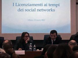 Licenziamenti e Social Network Convegno Agam Alessandro Tonelli