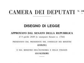 DL Cura Italia legge
