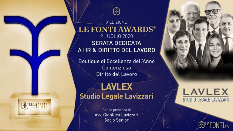 Studio Legale Lavizzari Le Fonti 2020 Premio